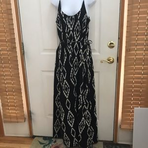 Lovestitch Black Aztec Print Maxi Dress Size Med